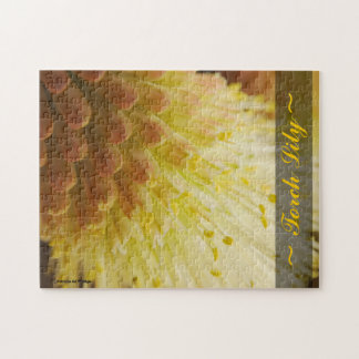 Radiant Torch Lily Close Up Photograph Puzzles