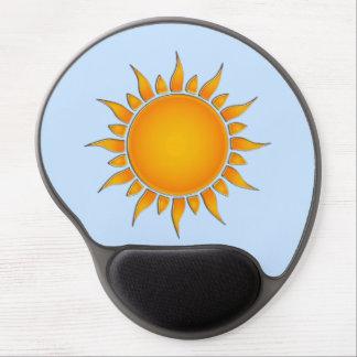 Radiant Yellow and Orange Summer Sun Gel Mousepad