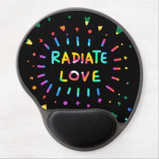 Radiate Love Colorful Rainbow Painting Gel Mouse Pad