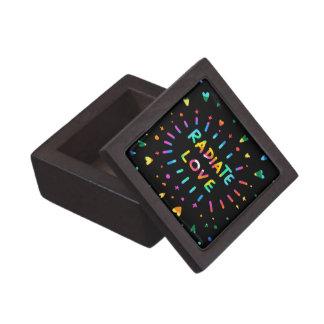 Radiate Love Loving Uplifting Rainbow Painting Keepsake Box