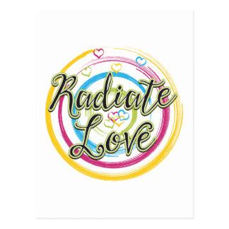 Radiate Love Postcard