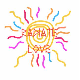 radiate love sculpture magnet