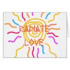 Radiate Love Sun Card