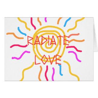 Radiate Love Sun Greeting Cards