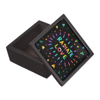 Radiate Love Uplifting Rainbow Hearts And Stars Keepsake Box