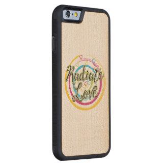 Radiate Love Carved® Maple iPhone 6 Bumper Case