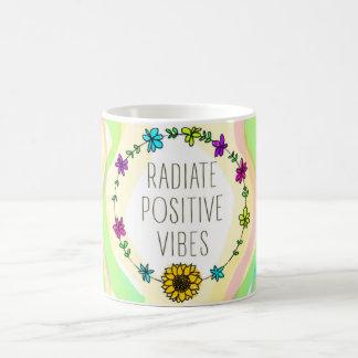 Radiate Positive Vibes Classic White Coffee Mug