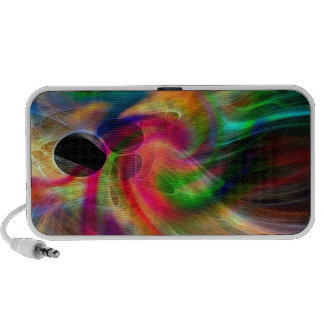 radiating colors, abstractly travel speaker