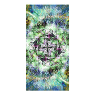 Radiating Cross Personalized Photo Card