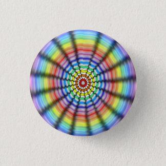 Radiating Flower Pinback Button