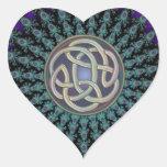 Radiating Fractal Mandala Grunge Celtic Knot Sticker