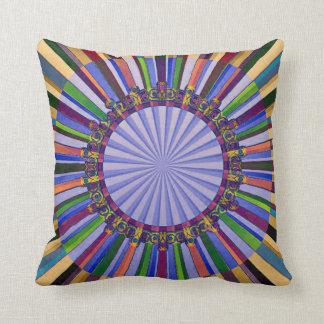Radiating Fractals Throw Pillow