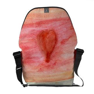 Radiating Heart Messenger Bag