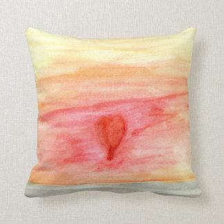 Radiating Heart Throw Pillow