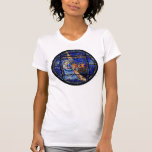 Radiating Nativity Stained Glass Blue Tee Shirts