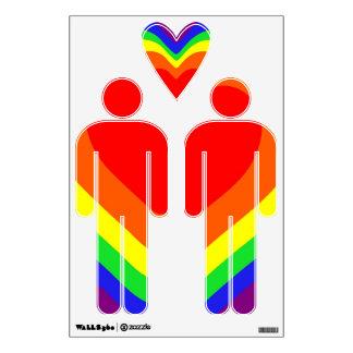 Radiating Rainbow Heart Wall Sticker