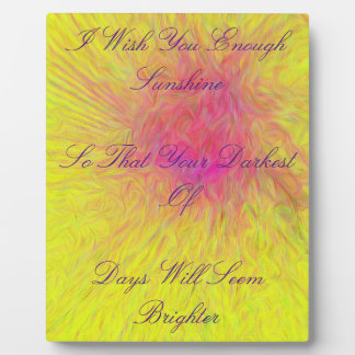 """Radiating Rose """"I Wish You Enough"""" Abstract Plaque"""