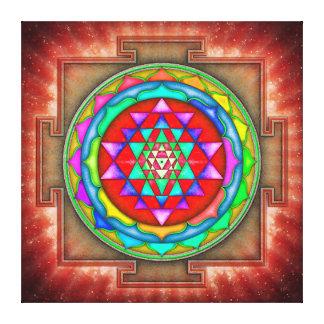 Radiating Sri Yantra Mandala I Canvas Print