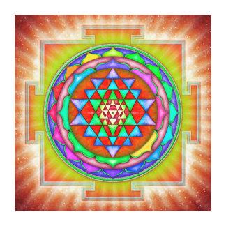 Radiating Sri Yantra Mandala II Canvas Print