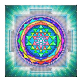Radiating Sri Yantra Mandala III Canvas Print