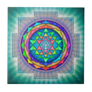 Radiating Sri Yantra Mandala III Ceramic Tile