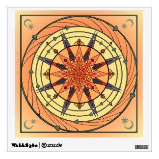 Radiating Sun Vintage Art Mandala Wall Decal