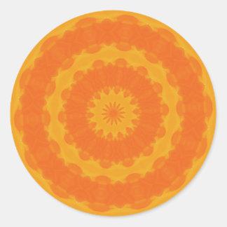 Radiating Warmth Classic Round Sticker