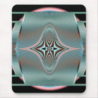 radiating waves mouse pad
