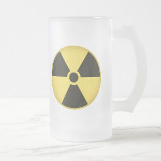 Radiation 1 frosted glass beer mug