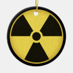 Radiation 1 Double-Sided ceramic round christmas ornament