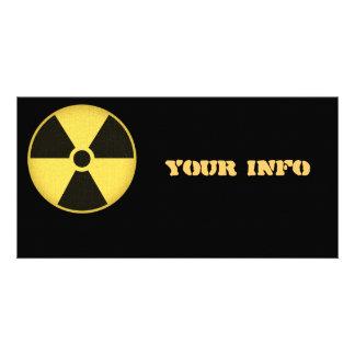 Radiation 1 personalized photo card
