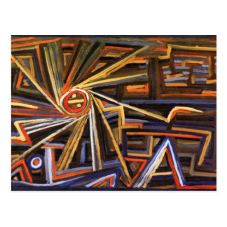 Radiation and Rotation By Paul Klee Postcard