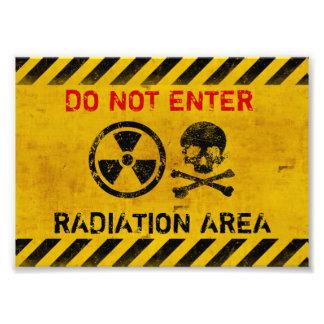 Radiation Area Warning Photo Print