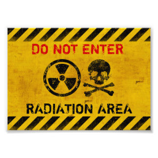Radiation Area Warning Art Photo