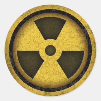 Radiation -cl-dist-2 classic round sticker