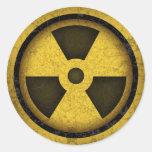 Radiation -cl-dist-2 round stickers