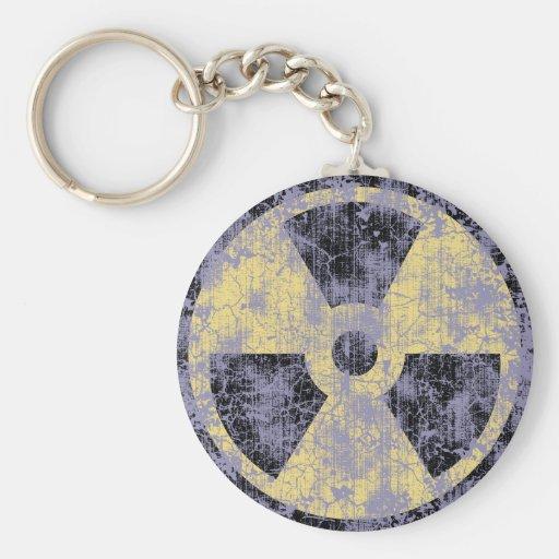 Radiation -cl-dist basic round button keychain