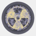 Radiation -cl-dist classic round sticker