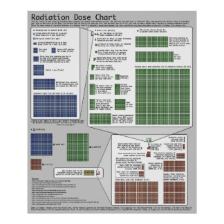 Radiation Dose Chart (by Randall Munroe) Posters