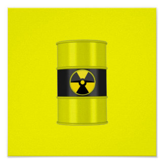 radiation framed art - hottest design! poster