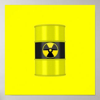 radiation framed art - hottest design! poster