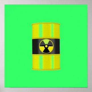 radiation framed art - hottest design! print