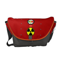Radiation Geiger Counter Effect Messenger Bag M at Zazzle
