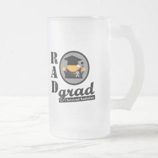 Radiation Grad BRAIN CANCER 16 Oz Frosted Glass Beer Mug