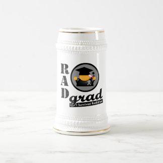 Radiation Grad BRAIN CANCER 18 Oz Beer Stein
