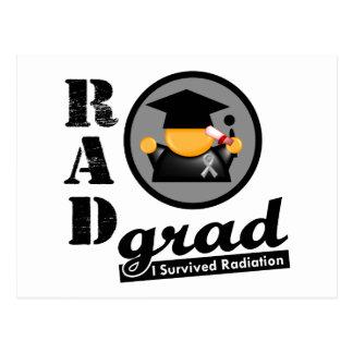 Radiation Grad BRAIN CANCER Postcard