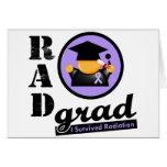 Radiation Grad GENERAL CANCER Greeting Card
