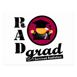 Radiation Grad HEAD AND NECK CANCER Postcard