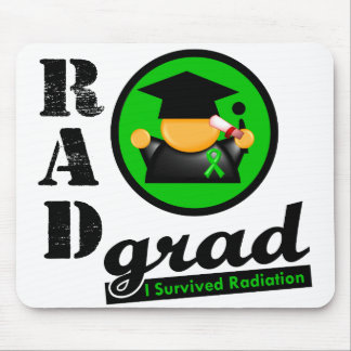 Radiation Grad KIDNEY CANCER Green Ribbon Mouse Pads