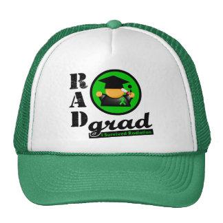 Radiation Grad KIDNEY CANCER Green Ribbon Trucker Hat
